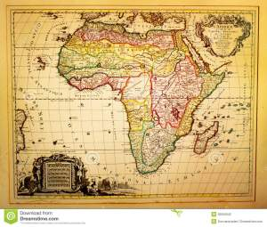 vintage-map-africa-ancient-depicting-th-century-32556042