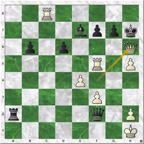 Carlsen Magnus - Karjakin Sergey (50.Qh6+!!)