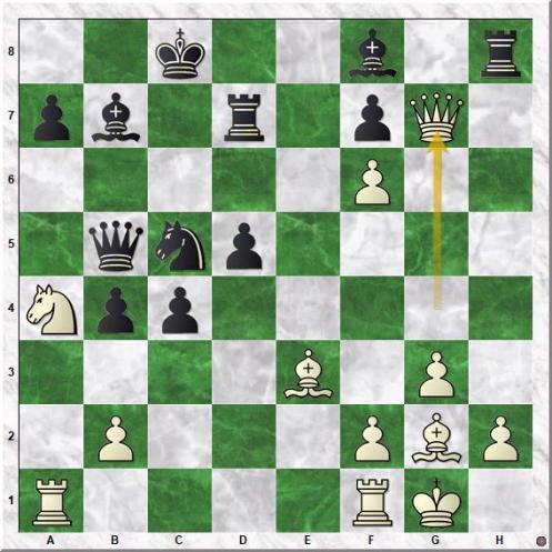 Ivanchuk Vassily - Shirov Alexei (21.Qg7!!)