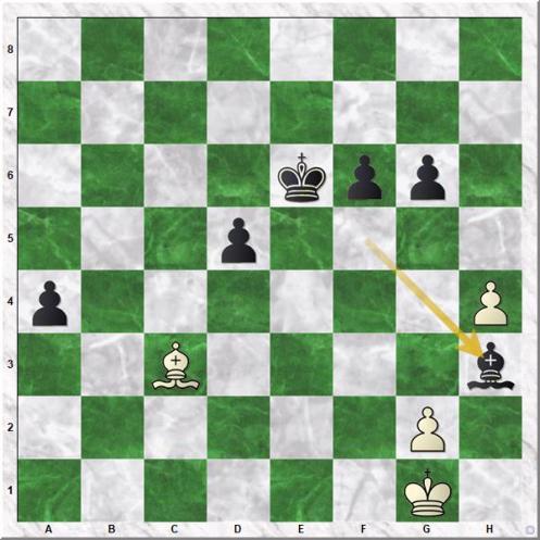 Topalov Veselin - Shirov Alexei (47...Bh3!!)