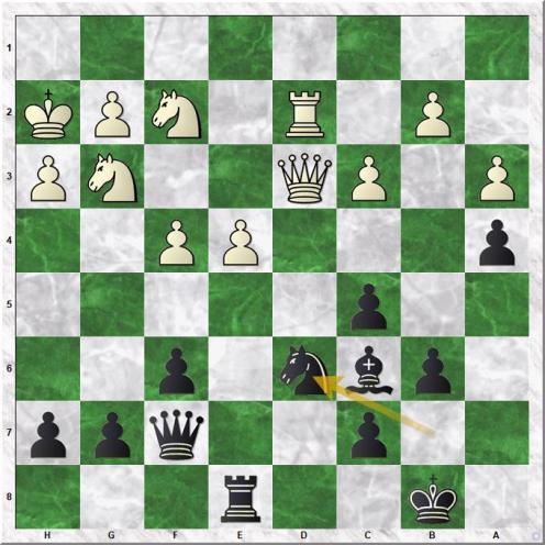 Naiditsch A - Svidler P (31...Nd6)