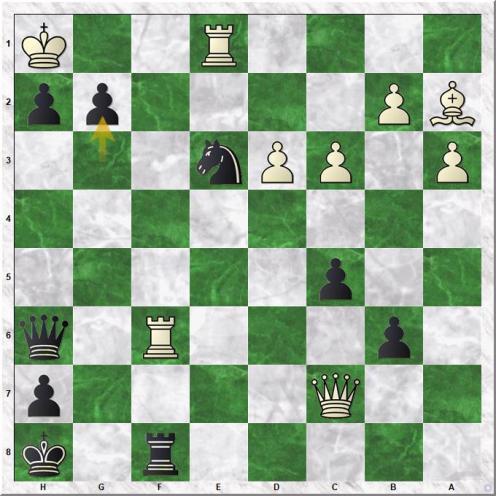Svidler Peter - Carlsen Magnus (33...g2#)