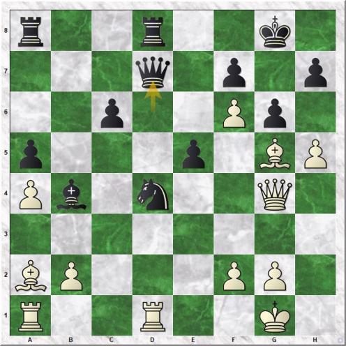 Lilienthal Andor - Smyslov Vassily V (25...Qd7)