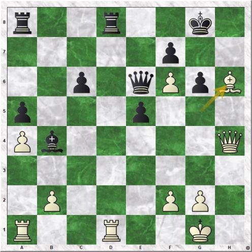 Lilienthal Andor - Smyslov Vassily V (30.Bh6!)