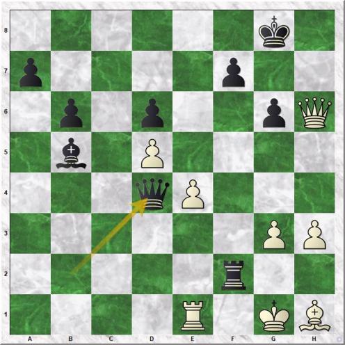 Britton Richard - Shamkovich Leonid Alexandrovic (33...Qd4)