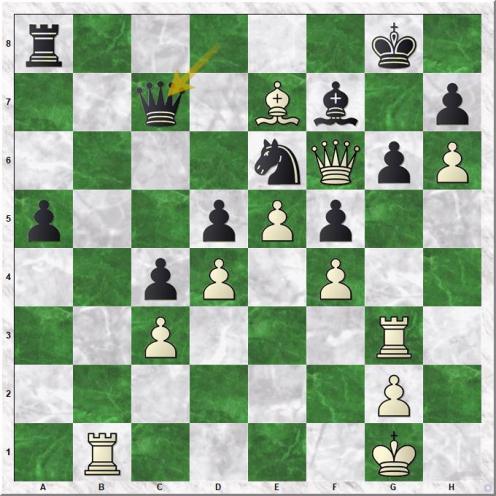 Taimanov Mark E - Petrosian Tigran V (36...Qc7)