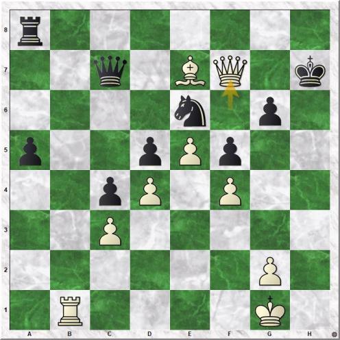 Taimanov Mark E - Petrosian Tigran V (39.Qxf7+)