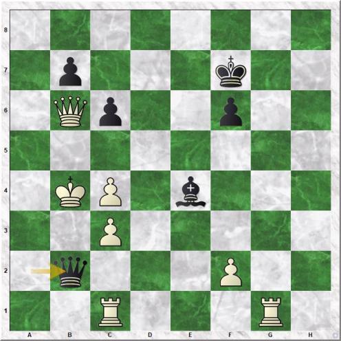 Tartakower Saviely - Euwe Max (42...Qb2+)