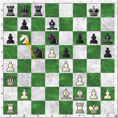 Gelfand Boris - Shirov Alexei (22.Nb6!)