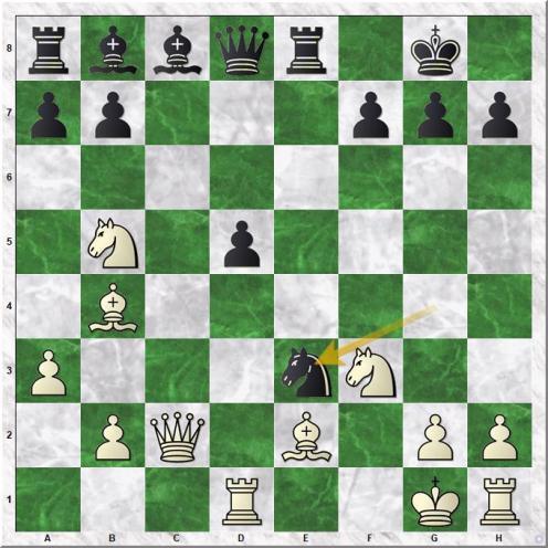 Ljubojevic Ljubomir - Gelfand Boris (16...Nxe3)