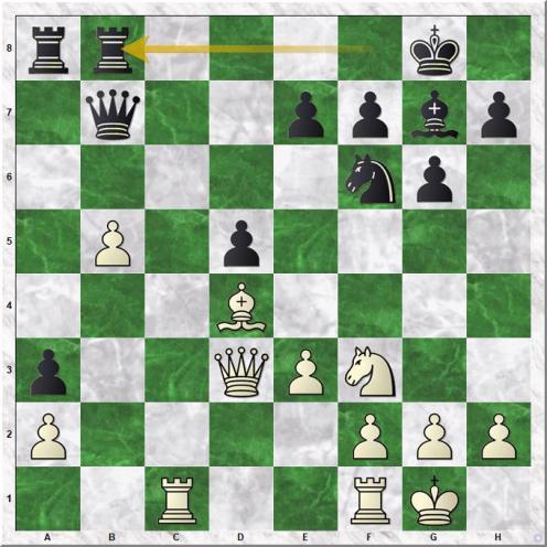 Magnus Carlsen (2870) - Andreas Tryggestad (2365) (19...Rfb8)