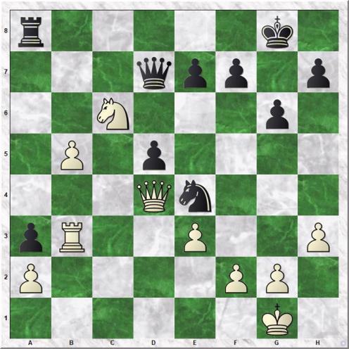 Magnus Carlsen (2870) - Andreas Tryggestad (2365) (28...Ne4)