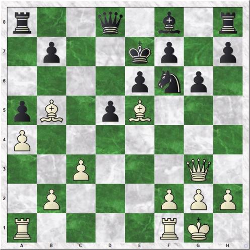 Carlsen Magnus - Utegaliyev Azamat (19...Ke7)