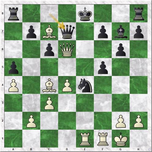 Carlsen Magnus - Utegaliyev Azamat (22...Qd7)