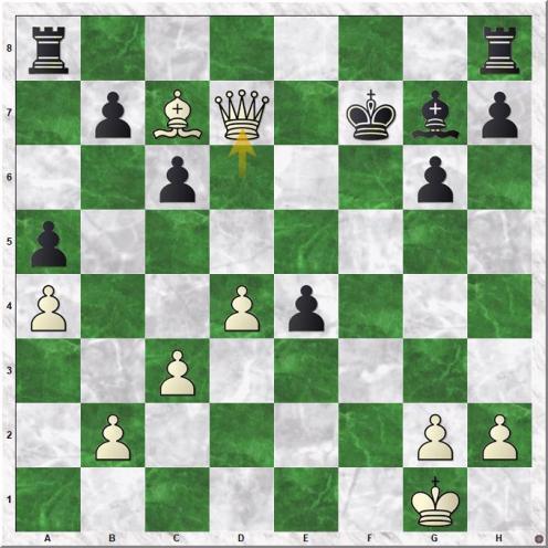Carlsen Magnus - Utegaliyev Azamat (26.Qd7+)