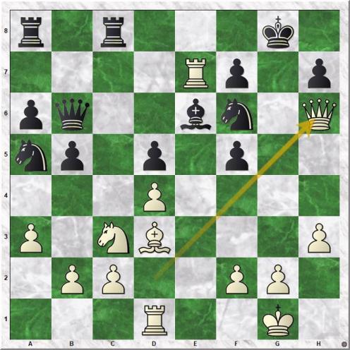 Jobava Baadur - Ponomariov Ruslan (18.Qxh6)