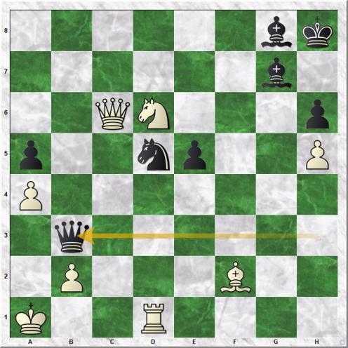 Arruebarrena Rafael - Mikhalevski Victor (34...Qxb3)