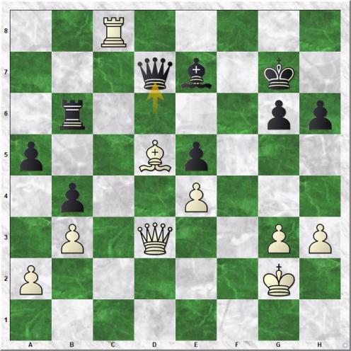 Karpov Anatoly - Huebner Robert (38...Qd7 )