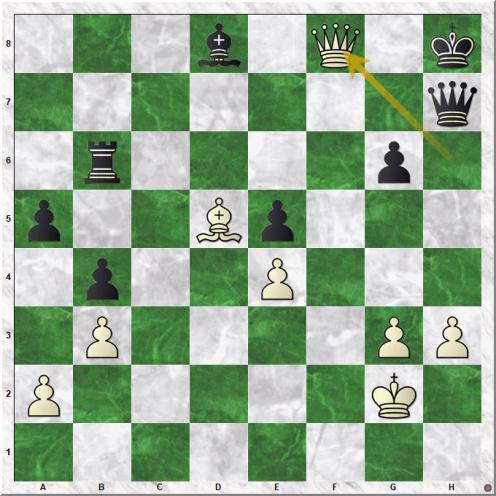 Karpov Anatoly - Huebner Robert (43.Qf8+)