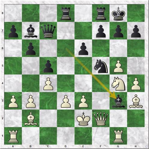 Mamedyarov Shakhriyar - Karjakin Sergey (21...Bg3)