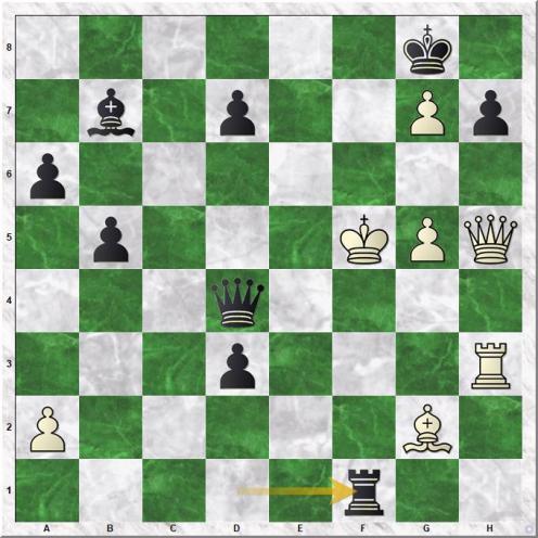 Maze Sebastien - Gharamian Tigran (34...Rf1+)